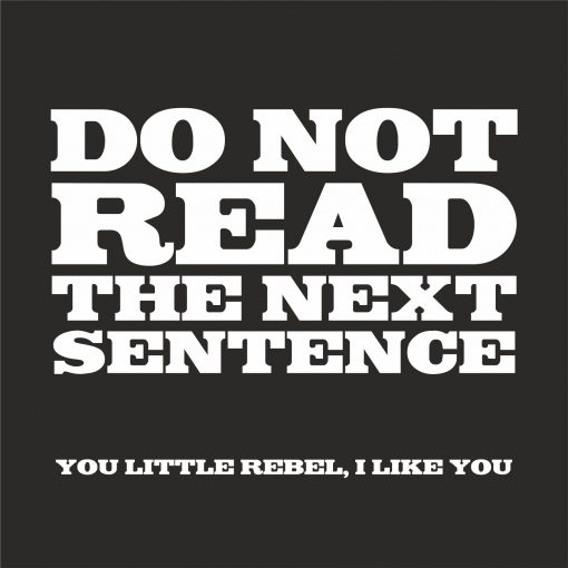 DO NOT READ THE NEXT SENTENCE THUMBNAIL