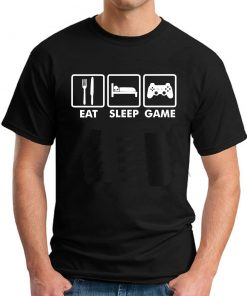 EAT SLEEP GAME BLACK