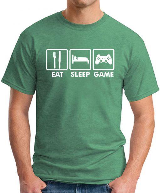 EAT SLEEP GAME GREEN