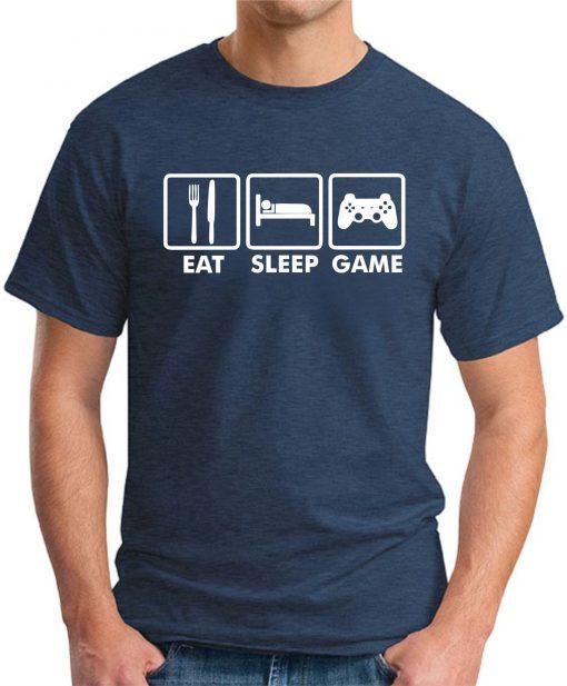 EAT SLEEP GAME NAVY
