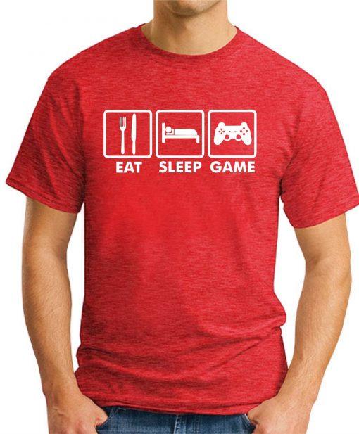 EAT SLEEP GAME RED
