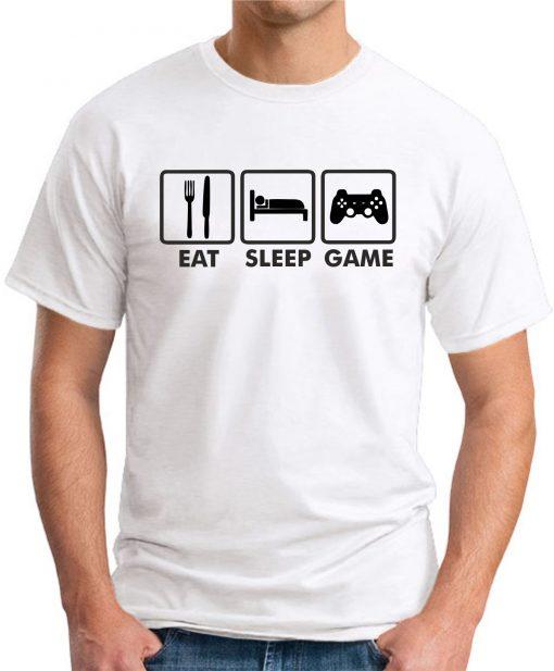 EAT SLEEP GAME WHITE