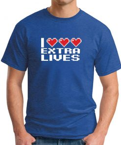 I HEART EXTRA LIVES ROYAL BLUE
