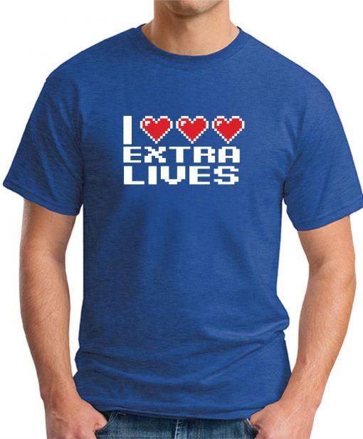 I HEART EXTRA LIVES ROYAL BLUE