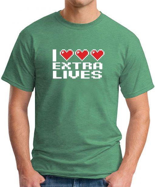 I HEART EXTRA LIVES GREEN