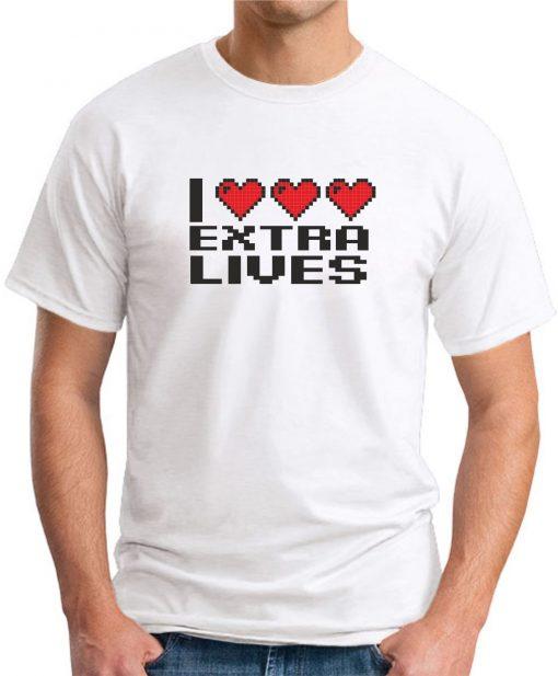 I HEART EXTRA LIVES WHITE