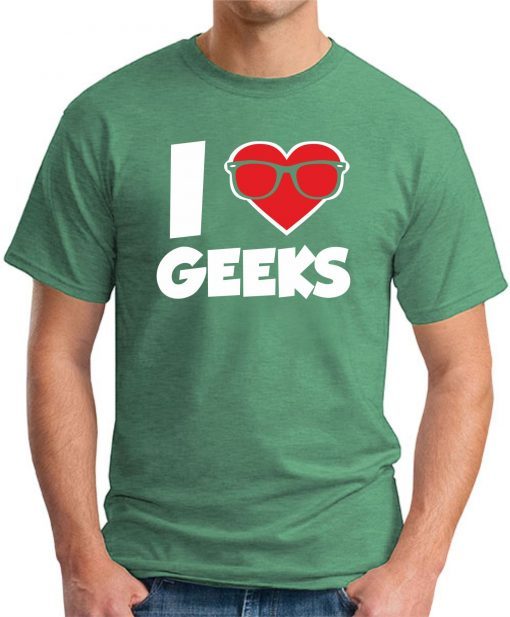 I HEART GEEKS GREEN