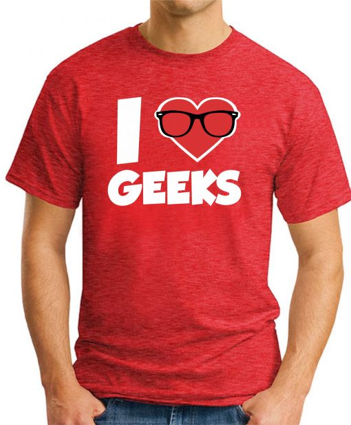 I HEART GEEKS RED