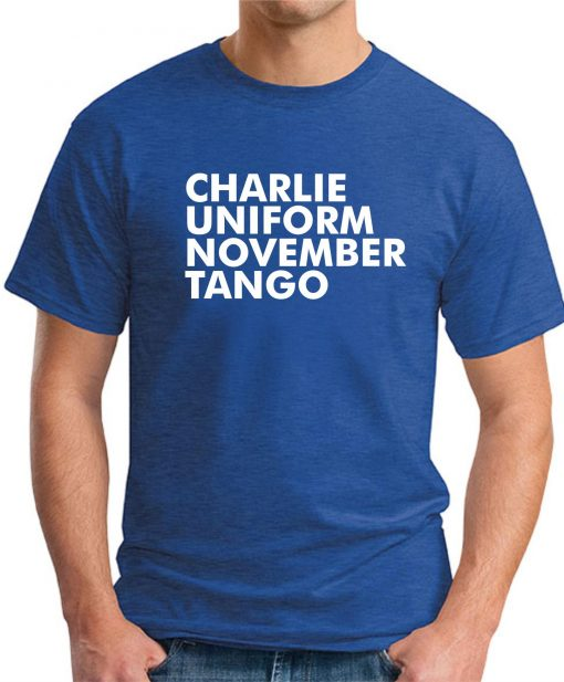 CHARLIE UNIFORM NOVEMBER TANGO ROYAL BLUE