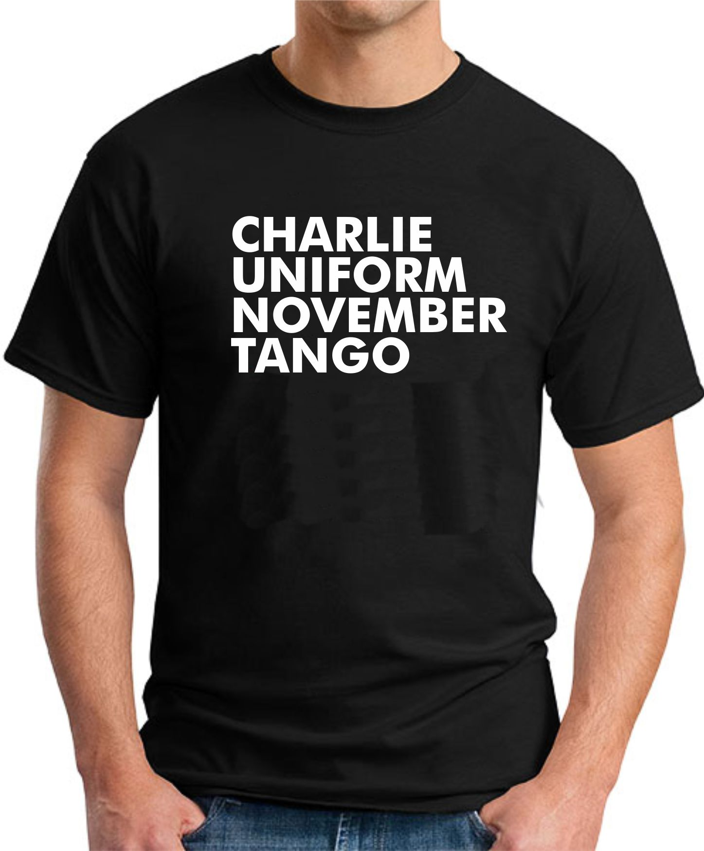 CHARLIE UNIFORM NOVEMBER TANGO BLACK