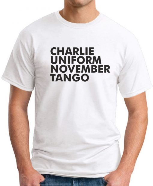 CHARLIE UNIFORM NOVEMBER TANGO WHITE