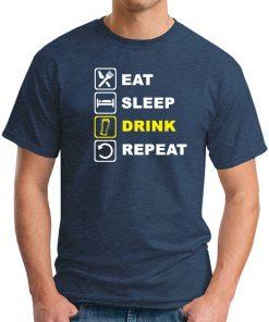 EAT SLEEP DRINK REPEAT NAVY