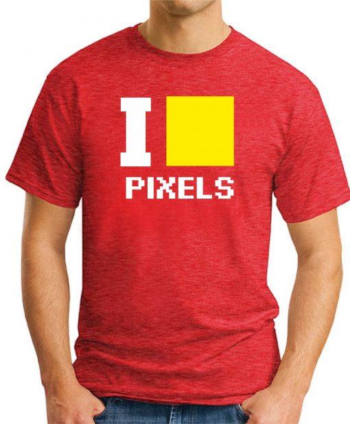 I HEART PIXELS RED