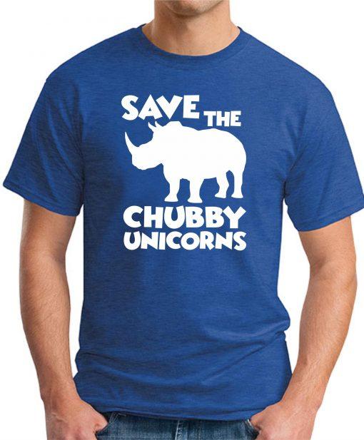 SAVE THE CHUBBY UNICORNS ROYAL BLUE