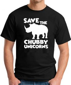 SAVE THE CHUBBY UNICORNS BLACK