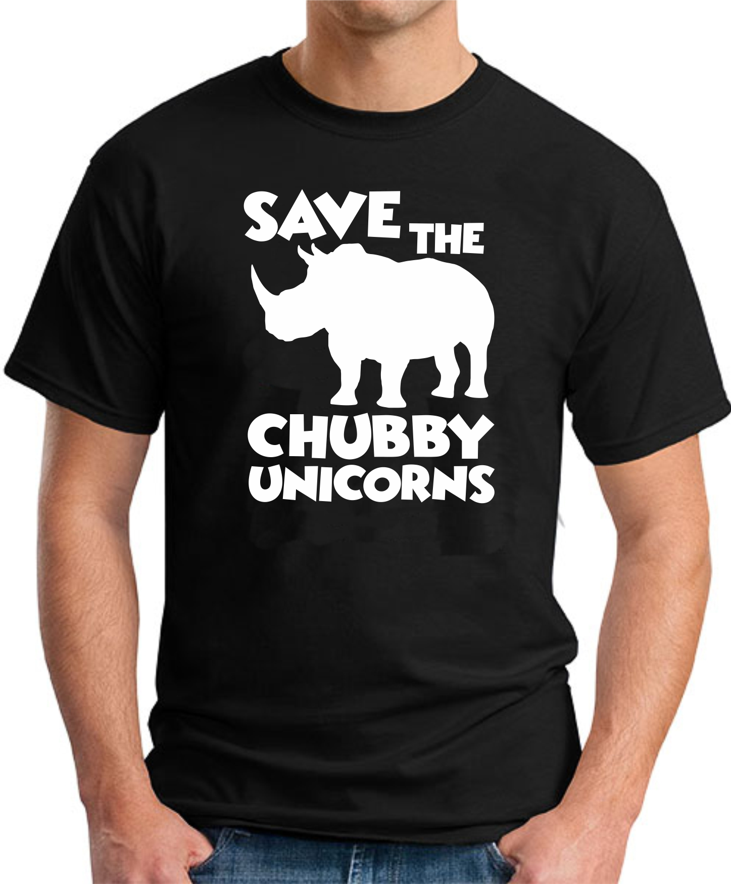 SAVE THE CHUBBY UNICORNS BLACK