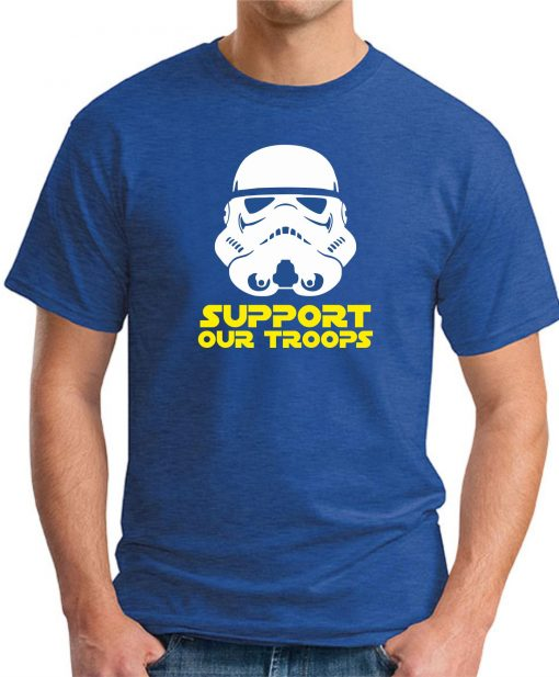 SUPPORT OUR TROOPS ROYAL BLUE