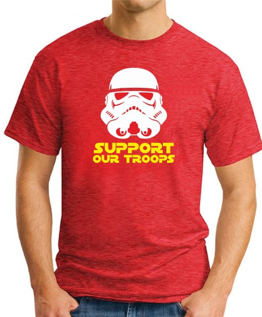 SUPPORT OUR TROOPS RED