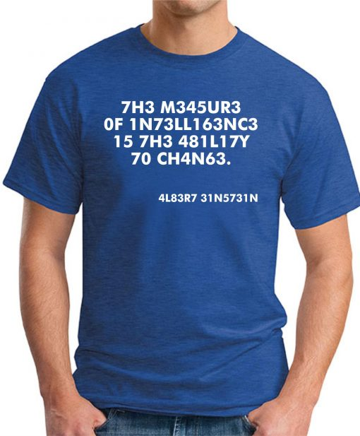 THE MEASURE OF INTELLIGENCE ROYAL BLUE