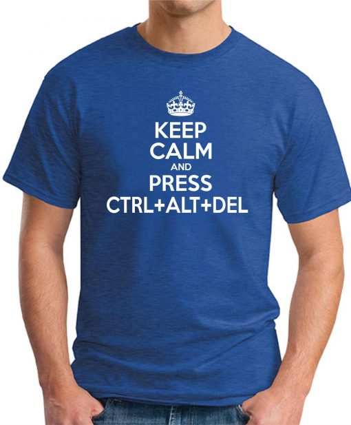 CTRL ALT DELETE ROYAL BLUE