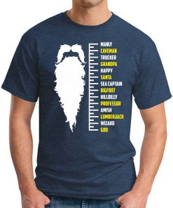 BEARD GROWTH CHART - Navy