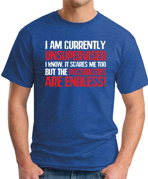 I AM CURRENTLY UNSUPERVISED Royal Blue