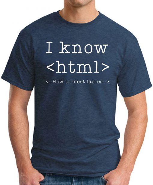 I KNOW HTML - Navy