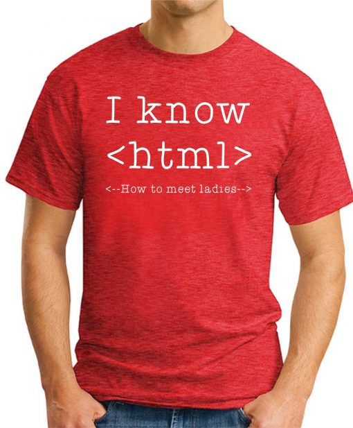 I KNOW HTML - Red