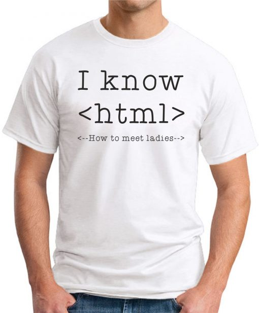 I KNOW HTML - White