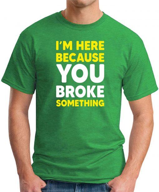 I'm here because you broke something green