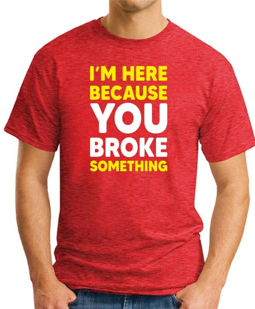 I'M HERE BECAUSE YOU BROKE SOMETHING - Red