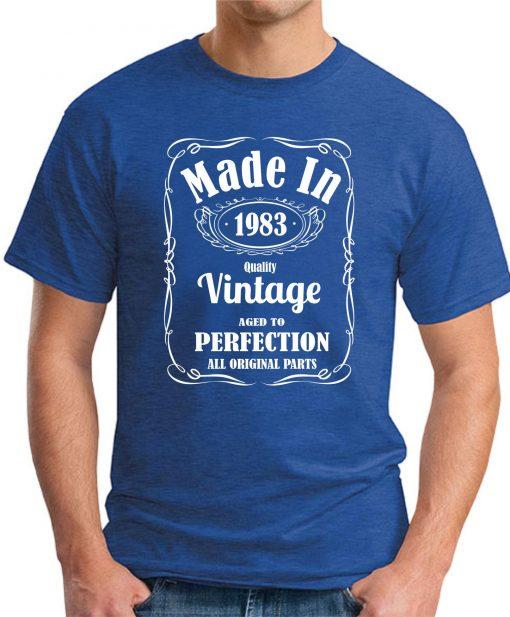 MADE IN 1983 VINTAGE ROYAL BLUE