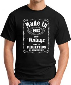 MADE IN 1983 VINTAGE BLACK