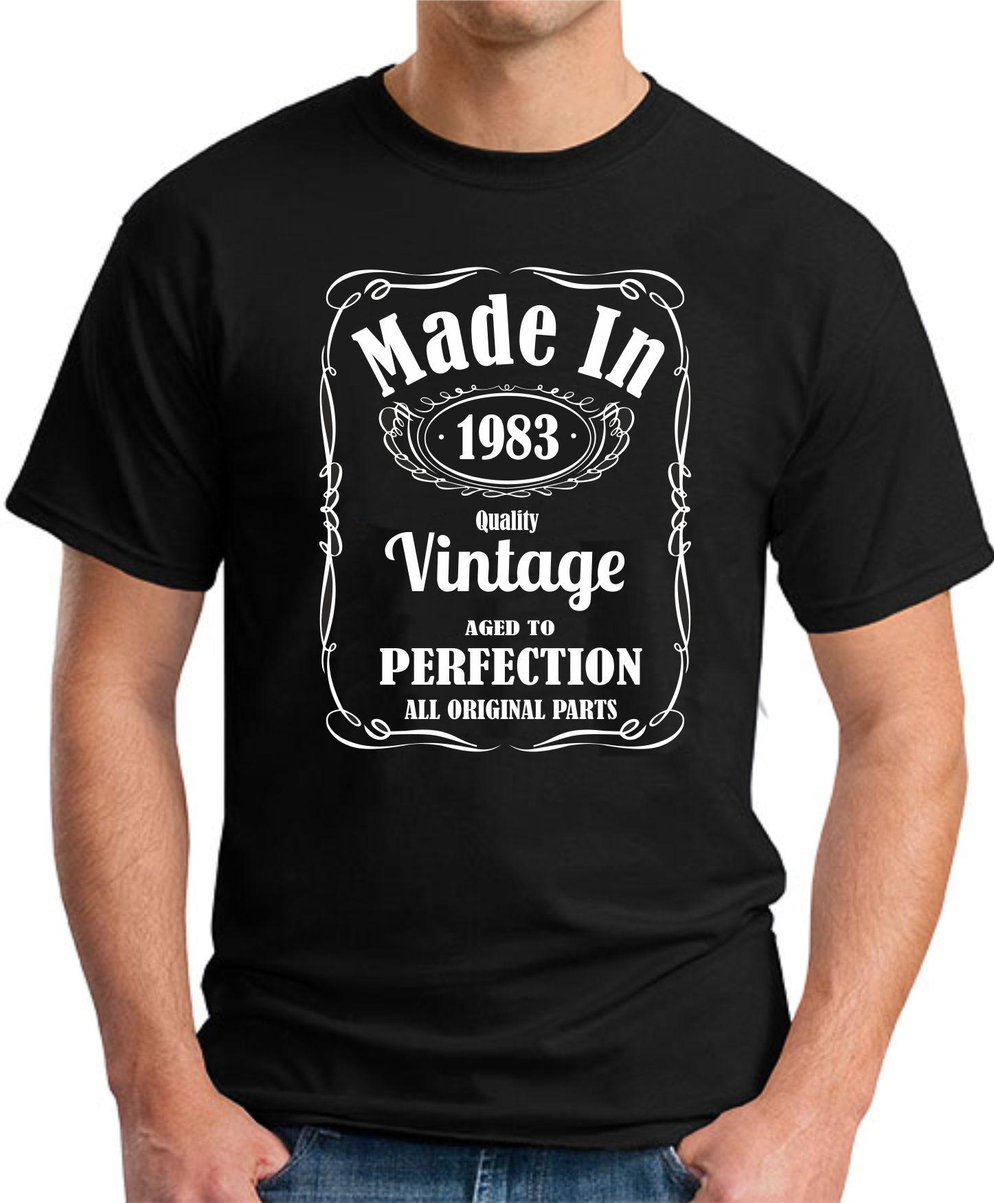MADE IN 1983 VINTAGE BLACK