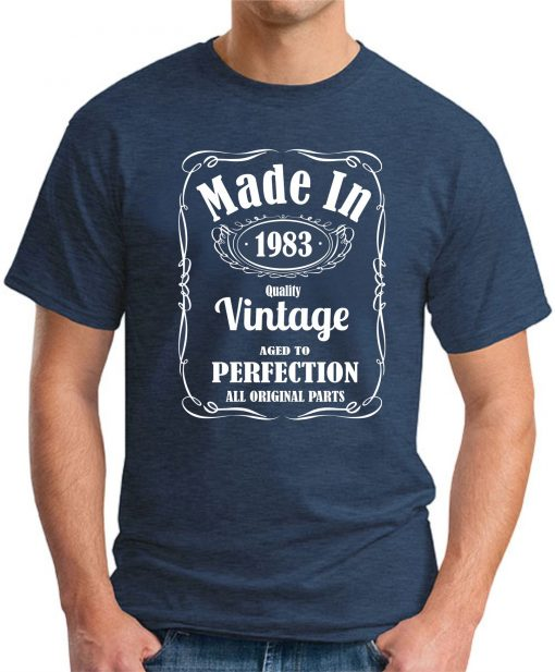 MADE IN 1983 VINTAGE NAVY
