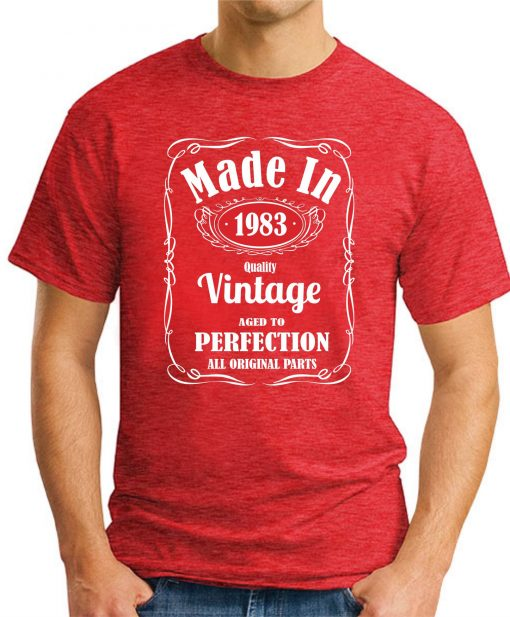 MADE IN 1983 VINTAGE RED