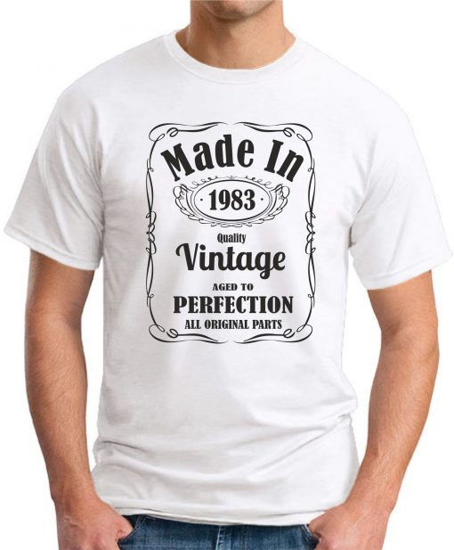 MADE IN 1983 VINTAGE WHITE