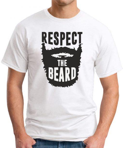 RESPECT THE BEARD - White