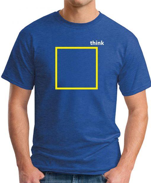 THINK OUTSIDE THE BOX ROYAL BLUE