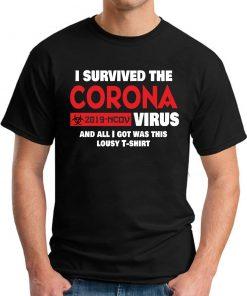 I SURVIVED THE CORONA VIRUS black