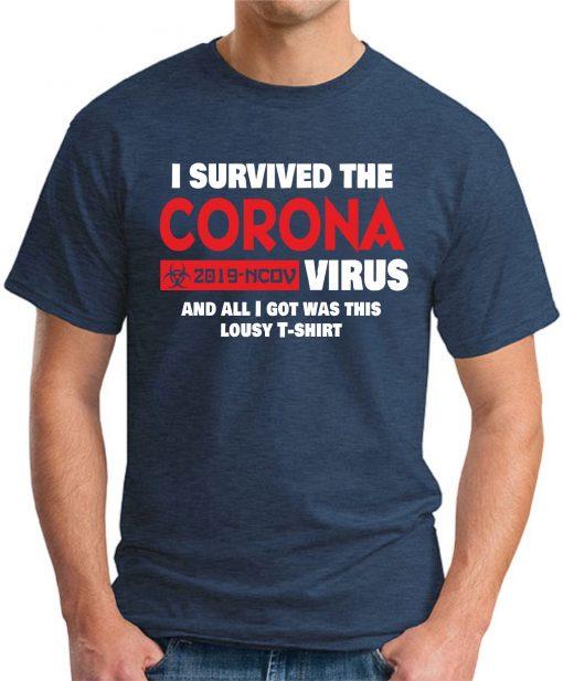 I SURVIVED THE CORONA VIRUS navy