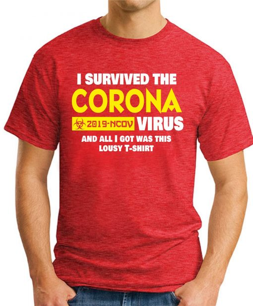 I SURVIVED THE CORONA VIRUS red