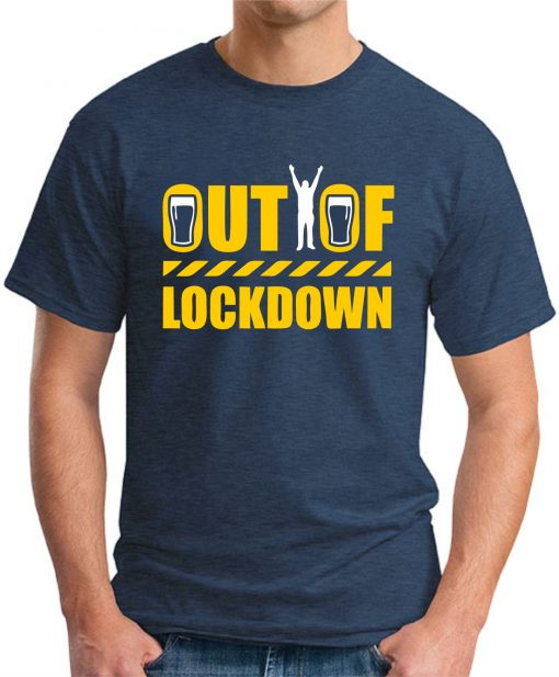 OUT OF LOCKDOWN navy