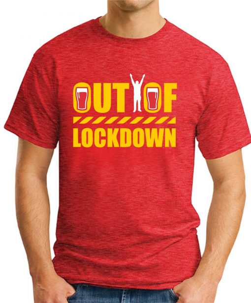 OUT OF LOCKDOWN red