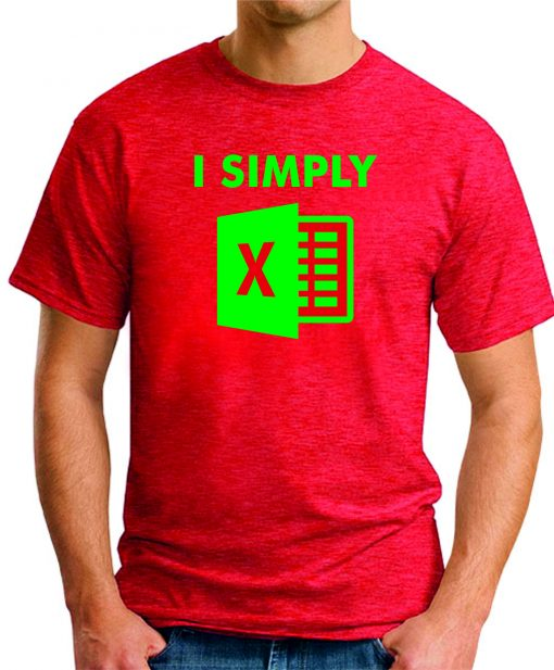 I SIMPLY EXCEL red