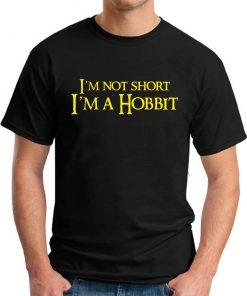 I'M NOT SHORT, I'M A HOBBIT black