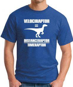 VELOCIRAPTOR = DISTANCERAPTOR / TIMERAPTOR royal blue
