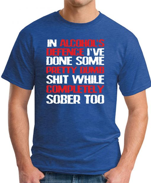 IN ALCOHOLS DEFENCE royal blue