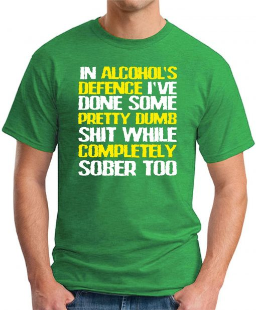 IN ALCOHOLS DEFENCE green