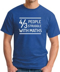 4 OUT OF 3 PEOPLE STRUGGLE WITH MATHS royal blue
